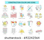 set of construction ... | Shutterstock .eps vector #692242564