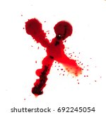 blood splashed isolated on... | Shutterstock . vector #692245054