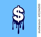 dollar sign   vector icon. easy ... | Shutterstock .eps vector #692246500