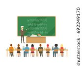 professor near the blackboard... | Shutterstock .eps vector #692249170