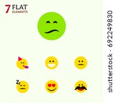 flat icon face set of love ... | Shutterstock .eps vector #692249830