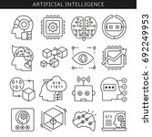 artificial intelligence and... | Shutterstock .eps vector #692249953