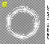 vector light ring. round shiny... | Shutterstock .eps vector #692250094