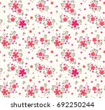 elegant floral pattern in small ... | Shutterstock .eps vector #692250244