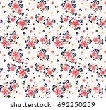 vector seamless pattern. pretty ... | Shutterstock .eps vector #692250259