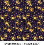 floral pattern. pretty flowers... | Shutterstock .eps vector #692251264