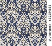 seamless damask wallpaper....   Shutterstock .eps vector #692254858