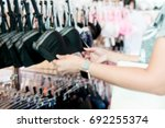 blurry background of teen girl... | Shutterstock . vector #692255374