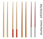 food chopsticks set isolated... | Shutterstock .eps vector #692256760