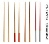 Food Chopsticks Set Isolated...