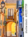 picturesque colorful street in... | Shutterstock . vector #692257759