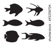 silhouette of fish  vector...   Shutterstock .eps vector #692258704
