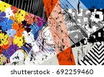 abstract geometric pattern... | Shutterstock .eps vector #692259460