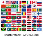 world flag icons   english... | Shutterstock .eps vector #692261308