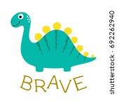 cute dino illustration. | Shutterstock .eps vector #692262940