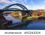 view of sunderland s iconic... | Shutterstock . vector #692263324