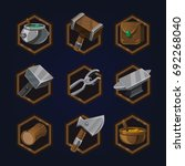 set of game 2d craft icons for...