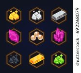 set of game 2d treasure icons... | Shutterstock .eps vector #692268079