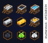 set of game 2d resources icons...