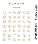 vector graphic set. isolated... | Shutterstock .eps vector #692276608