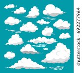white clouds of different... | Shutterstock .eps vector #692277964