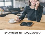 successful and technology... | Shutterstock . vector #692280490