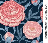 floral seamless pattern with... | Shutterstock .eps vector #692282164