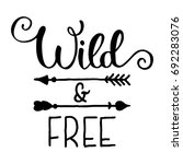 wild and free hand brush... | Shutterstock .eps vector #692283076