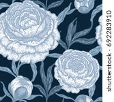 floral seamless pattern with... | Shutterstock .eps vector #692283910
