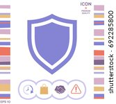 shield. protection icon | Shutterstock .eps vector #692285800