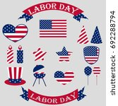 labor day in america. set of... | Shutterstock .eps vector #692288794