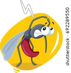 scared mosquito insect vector... | Shutterstock .eps vector #692289550