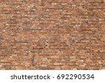 red brick wall texture grunge... | Shutterstock . vector #692290534