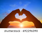 Silhouette Heart Shape With...