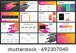 modern minimalist purple and... | Shutterstock .eps vector #692307040