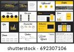 modern minimalist yellow and... | Shutterstock .eps vector #692307106