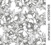 abstract elegance seamless... | Shutterstock .eps vector #692308438
