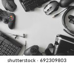 top view of gaming gear  gaming ... | Shutterstock . vector #692309803