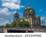 berlin cathedral or berliner... | Shutterstock . vector #692309980