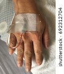 Small photo of intravenous saline admitted to the hospital
