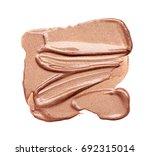 texture of golden lipstick... | Shutterstock . vector #692315014