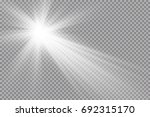 vector transparent sunlight... | Shutterstock .eps vector #692315170