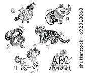 animals alphabet q   u for... | Shutterstock .eps vector #692318068