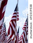 Small photo of American flag display at the Airborne and Special Operations Museum in Fayetteville, NC.