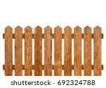 brown wooden fence isolated on... | Shutterstock . vector #692324788