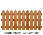 brown wooden fence isolated on... | Shutterstock . vector #692324800