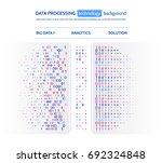 big data visualization.... | Shutterstock .eps vector #692324848