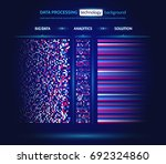 big data visualization.... | Shutterstock .eps vector #692324860