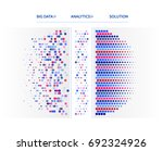 big data visualization.... | Shutterstock .eps vector #692324926