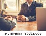 business situation job... | Shutterstock . vector #692327098